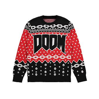 Doom Knitted Christmas Jumper new Official Gamer Unisex