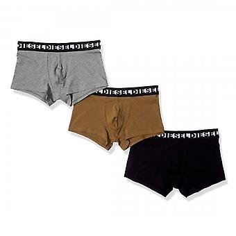 Diesel Shawn 3 Pack 3 Boxer Shorts Grey Marl, Black & Tan