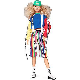 Barbie BMR1959 Divat Baba göndör szőke haj baba 30cm