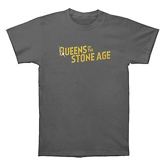 Queens Of The Stone Age Text Logo Metallic T shirt