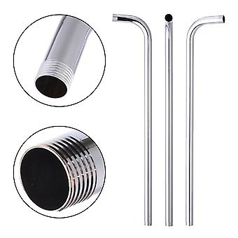 """24"""" 60cm Wall-mounted Shower, head Arm Stainless Steel, tube Bracket"""
