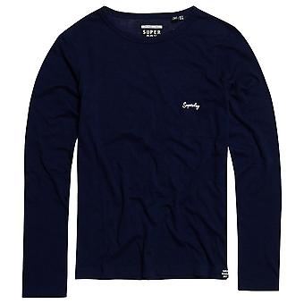 Superdry Orange Label Essential Long Sleeve Top - Rinsed Navy