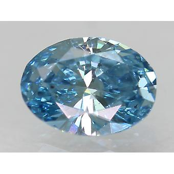 Cert 0.28 Karat Himmel blau VS1 Oval Enhanced Natürliche lose Diamant 5.02x3.81mm
