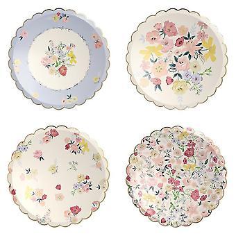 Meri Meri Floral English Garden Large Dinner Paper Party Plates x 8