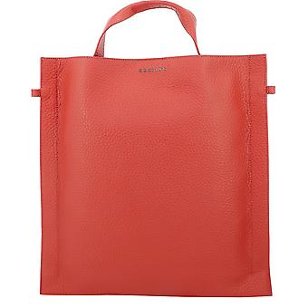 Orciani B01983softmarlboro Women's Red Leather Tote