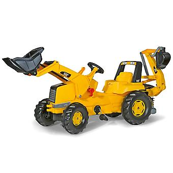 Rolly toys CAT tractor with frontloader & rear excavator  for 3 - 8 years old-
