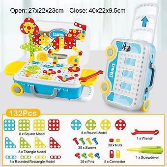 132/308pcs niños electric Drill Juguetes- Diy juguetes de rompecabezas educativos,'s Drill Nut