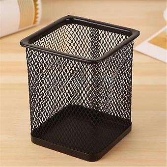 Pencil Holder, Metal Mesh Square Pen Pot Cup Case