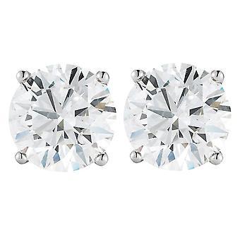 1 1 / 2CT diamant skrue tilbake studs Platinum