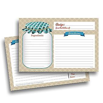 Cartões de receita de cozinha-duplo papel impresso lateral