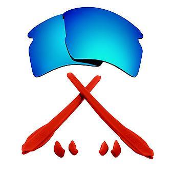 Ersättare linser & kit för Oakley flak 2,0 XL blå spegel & röd Anti-Scratch anti-bländning UV400 av SeekOptics