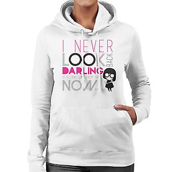 Pixar The Incredibles Edna Mode I Never Look Back Darling Quote Women's Hooded Sweatshirt
