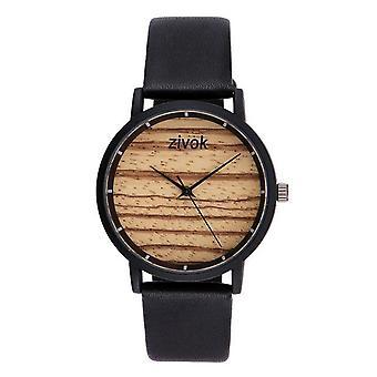 ZIVOK 8006 الخشب الديكور السيدات المعصم الساعات أزياء نمط حزام الجلود