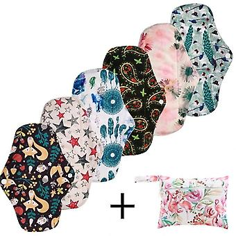 Reusable Bamboo Charcoal Sanitary-pads Regular Flow-pads