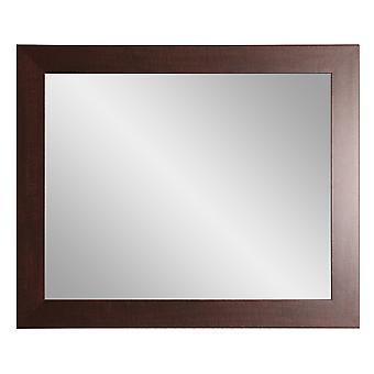Dark Rustic Entry Way Framed Wall Mirror 32''X 36''