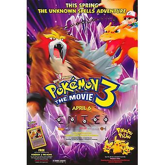 3 Pokemon der Film-Film-Plakat-Druck (27 x 40)