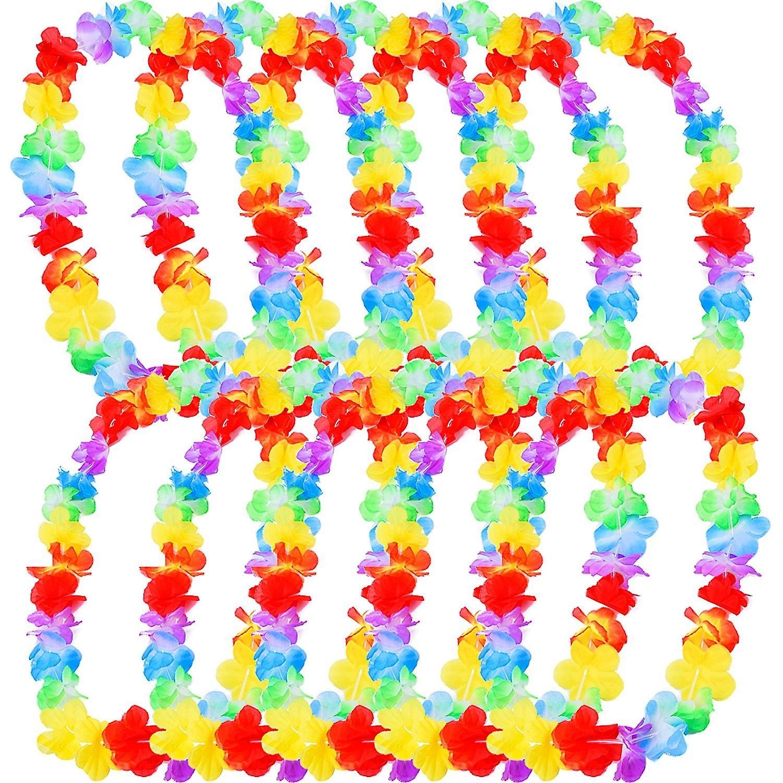Hawaii Chains Hawaii Party Beach Flower Chain Multicoloured Hula Flower Chain Necklace