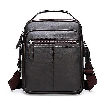 Casual Soft Leather Shoulder & Crossbody Retro, Messenger Bags For Business
