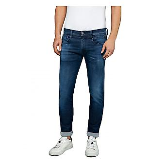 Replay Jeans Replay Hyperflex Slim Fit Anbass Clouds Jean - Medium Blue