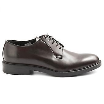 Zapato de encaje para hombre Sangiorgio cuero marrón