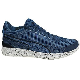 Puma Ignite Sock Woven Lace Up Mens Trainers Blue Shoes 360897 01 B31C
