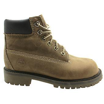 تيمبرلاند 6 بوصة قسط الدانتيل حتى الشباب الأحذية الأولاد الاطفال براون 20703 B26A
