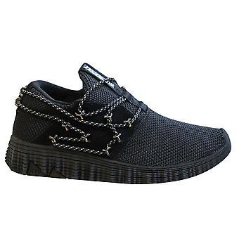 Supra Malli Textile Leather Lace Up Mens Trainers Slip On Shoes 05666 010