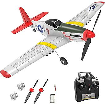 Top Race RC plane 2.4Ghz 4-Channel Remote Control Plane War Plane Mustang Ready To Fly