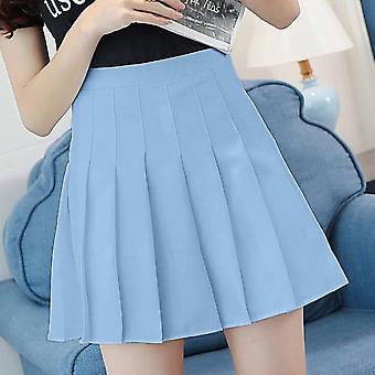 Women High Waist Pleated Mini Skirt