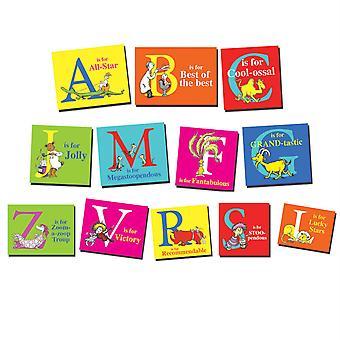 Dr. Seuss Encouraging And Positive Abc Mini Bulletin Board Set