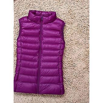 Women Duck Down Vest Ultra Light Jacket, High Collar Sleeveless Coat