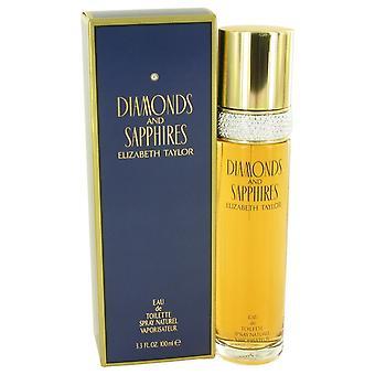 DIAMONDS & SAPHIRES by Elizabeth Taylor Eau De Toilette Spray 3.4 oz / 100 ml (Women)