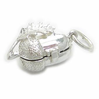 Agern med egern Inde Sterling Silver Åbning Charm 0,925 X 1 Charms - 4482