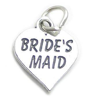 Bridesmaid Sterling Silver Charm .925 X 1 Bride Brides Maid Charms - 4141