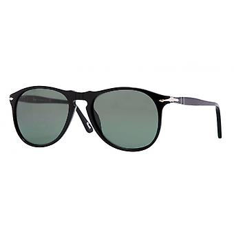 Persol PO9649S 95/58 Black/Crystal Green Polarised Sunglasses