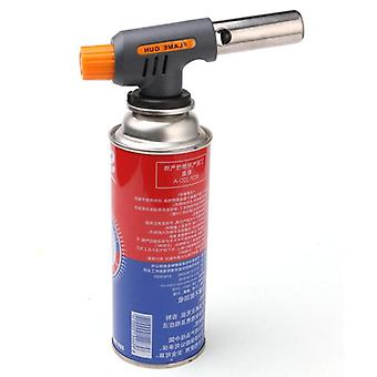 Gas Welding Torch Flamethrower Butane Burner Automatic Ignition Baking Fire