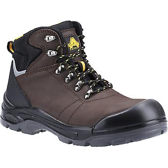 Amblers Safety Mens AS203 Laymore Water Resistant Leather Safety Boot Brown