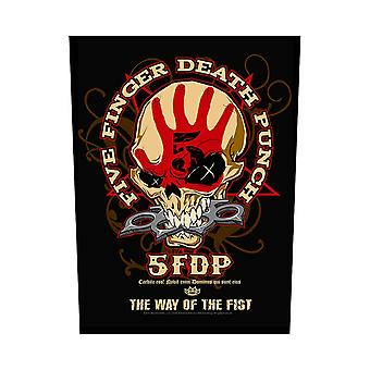 Five Finger Death Punch Back Patch Way Of The Fist Logo Official 36cm x 29cm