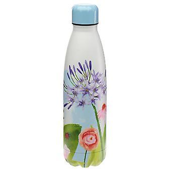 Giardini botanici bottiglia di bevande isolate in acciaio inossidabile