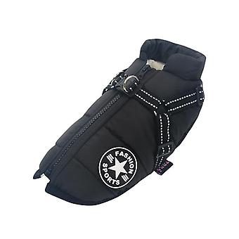 Large Pet Dog Jacket With Harness Winter Warm