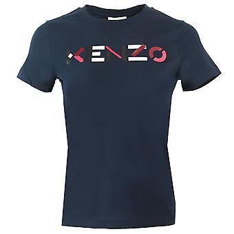 Kenzo Naisten Monivärinen Classic Logo Navy T-paita