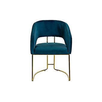Chair Dekodonia Velvet Velvet Brass (55 x 55 x 80 cm)
