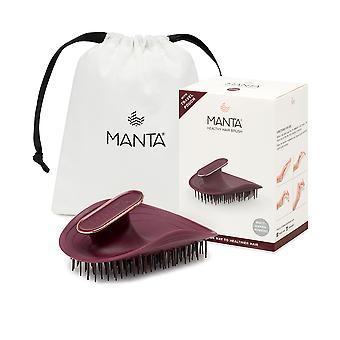 Manta Healthy Hair Brush Ultra Gentle #burgundy-rose Or 1 Pz Unisex