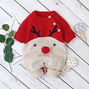 Deer Romper tricotate salopetă caldă