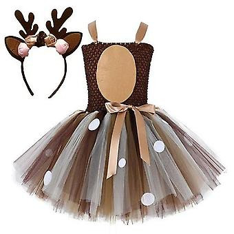 Robes robe cerfs avec bandeau Halloween Costume Elk Cosplay