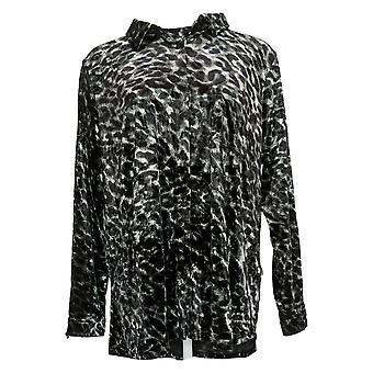Belle de Kim Gravel camiseta femenina de terciopelo con bolsillo negro A388508