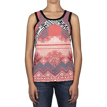 Custo Barcelona Women Tank top Pen Foil  Multicolor