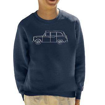 London Taxi Company TX4 Outline Kid's Sweatshirt