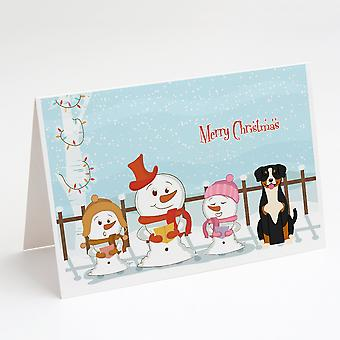 Hyvää joulua Carolers Entlebucher Onnittelukortit ja kirjekuoret Pakkaus 8