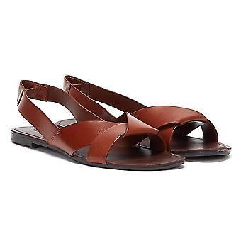 Vagabond Tia Sling Back Womens Brown Sandals